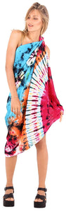 LA LEELA Womens Beach Swimsuit Cover Up Sarong Swimwear Cover-Up Wrap Skirt Plus Size Large Maxi GB