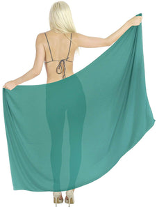 la-leela-womens-beach-cover-up-sarong-swimsuit-cover-up-solid-pareo-sheer-chiffon