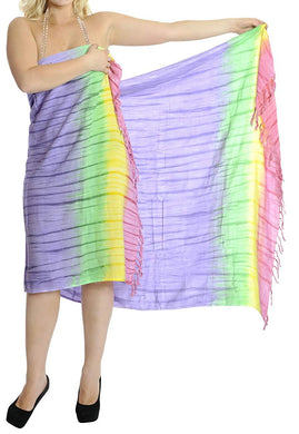 LA LEELA Women's Swimsuit Cover Up Sarong Bikini Swimwear Beach Cover-Ups Wrap Skirt Large Maxi GB