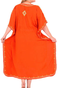 RAYON Ladies Beachwear Bikini Swimwear Tie Dye Plus Cover up Tank Dress  Orange