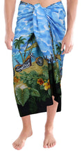 Load image into Gallery viewer, LA LEELA Beach Wear Mens Sarong Pareo Wrap Cover ups Bathing Suit Resort Towel Swimming