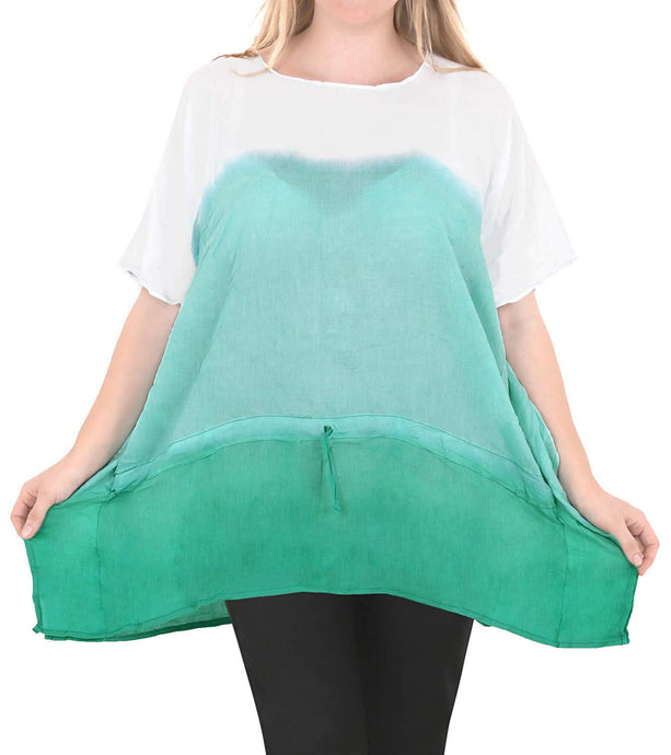 Casual Loose Fit Plus Kimono Loose Beachwear Women's Casual Top Green 14 - 18