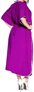 Long Kimono Loose Beach Swimwear Swimsuit Bikini Cover up Caftan Maxi Dress L-5X