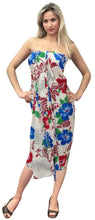 Load image into Gallery viewer, la-leela-soft-light-scarf-long-dress-women-sarong-printed-72x42-white_5577