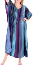 Load image into Gallery viewer, Women's Tie Dye Casual Sleeveless Rayon Casual Caftan Multi Cover up Green