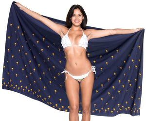 la-leela-womens-bikini-wrap-cover-up-swimsuit-dress-sarong-solid-5-one-size