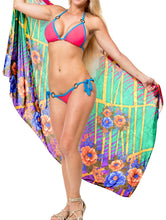 Load image into Gallery viewer, la-leela-womens-bikini-wrap-cover-up-swimsuit-sarong-dress-digital-one-size
