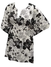 Load image into Gallery viewer, la-leela-soft-fabric-printed-blouse-cover-ups-women-osfm-8-14-m-l-black_4835