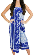 Load image into Gallery viewer, la-leela-soft-light-cover-up-bathing-wrap-sarong-printed-72x42-royal-blue_2505