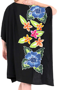 Women Dress Designer Sundress Beachwear Plus Size Evening Casual Cover ups Black