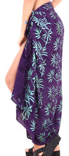 Load image into Gallery viewer, LA LEELA Womens Beach Swimsuit Cover Up Sarong Swimwear Cover-Up Wrap Skirt Plus Size Large Maxi FO