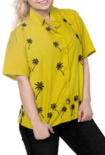 Load image into Gallery viewer, Women Hawaiian Shirt Casual Embroidery Blouses Workwear Short Sleeve Dress Top