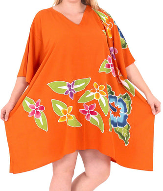 Women's Designer Sundress Beachwear Plus Evening Casual Cover ups Dress Orange