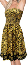 Load image into Gallery viewer, la-leela-likre-tiger-border-stretchy-plus-skirt-women-strap-casual-tube-dress