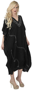 la-leela-rayon-6-solid-womens-kaftan-nightgown-beachwear-cover-up-dress