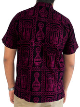Load image into Gallery viewer, LA LEELA Shirt Casual Button Down Short Sleeve Beach Shirt Men Pocket Batik 24