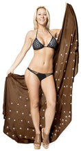 Load image into Gallery viewer, la-leela-women-bikini-cover-up-wrap-dress-swimwear-sarong-solid-6-one-size