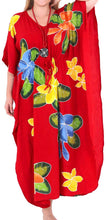 Load image into Gallery viewer, Women's Beachwear Sleeveless Rayon Cover up Dress Casual Caftans Multi  Red