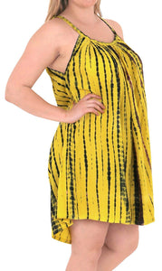 Women's Beachwear Evening Plus Size Blouse tunic Casual Cover ups Casuals yellow