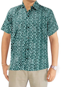 LA LEELA Shirt Casual Button Down Short Sleeve Beach Shirt Men Aloha Pocket 25