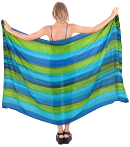 LA LEELA Swimsuit Cover-Up Sarong Beach Wrap Skirt Hawaiian Sarongs for Women Plus Size Large Maxi FI
