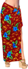 Load image into Gallery viewer, LA LEELA Women's Beachwear Bikini Wrap Cover up Swimsuit Dress Sarong 1 ONE Size