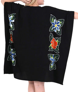 Women Loose Designer Sundress Beachwear Plus Size Evening Casual Cover ups Black