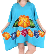Load image into Gallery viewer, Women's Designer Sundress Beachwear Plus Size Evening Casual Cover ups Turquoise