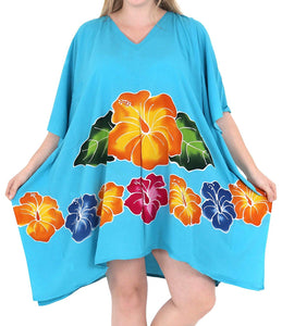 Women's Designer Sundress Beachwear Plus Size Evening Casual Cover ups Turquoise