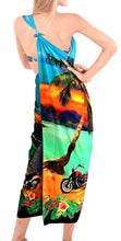 Load image into Gallery viewer, LA LEELA Women Bikini Cover up Wrap Dress Swimwear Sarong Digital Plus Size