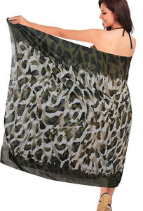 LA LEELA Beachwear Bikini Cover up Bathing Suit Wrap Pareo Women 19 ONE Size
