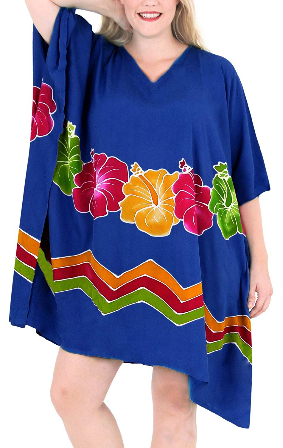 Women's Beachwear Evening Plus Kimono Blouse Loose Casual Cover ups Casuals Blue