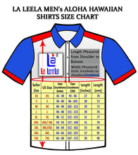 Load image into Gallery viewer, LA LEELA Shirt Casual Button Down Short Sleeve Beach Shirt Men Embroidered 125