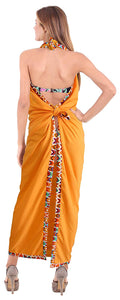 "LA LEELA Rayon Swimsuit Bathing Beach Wrap Sarong Solid 78""X42"" Orange_6609"
