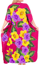 Load image into Gallery viewer, Women's Designer Hand Painted Swimwear Beach Dress Bikini Cover up Pink Caftans