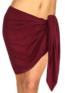 LA LEELA Swimsuit Cover-Up Sarong Beach Wrap Skirt Hawaiian Sarongs for Women Plus Size Short Half Mini G