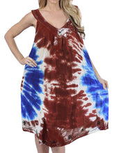 Load image into Gallery viewer, LA LEELA Everyday Essentials Caftan Tunic Tank Summer Beach Dress Swim Cover Up AP