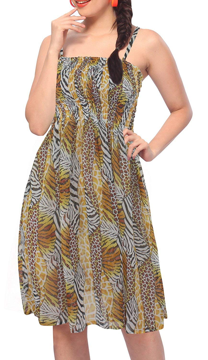 la-leela-womens-one-size-beach-dress-tube-dress-one-size-2