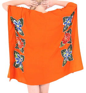 Women's Kimono Designer Sundress Beachwear Plus Evening Casual Cover ups Orange
