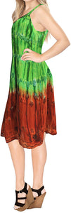 LA LEELA Everyday Essentials Caftan Tunic Tank Summer Beach Dress Swim Cover Up AP