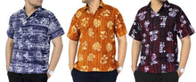 Load image into Gallery viewer, la-leela-shirt-casual-button-down-short-sleeve-beach-shirt-men-embroidered-8
