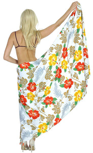 LA LEELA Women Beachwear Sarong Bikini Cover up Wrap Bathing Suit 15 ONE Size