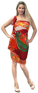 LA LEELA Women Beachwear Bikini Wrap Cover up Swimsuit Dress Sarong 30 ONE Size