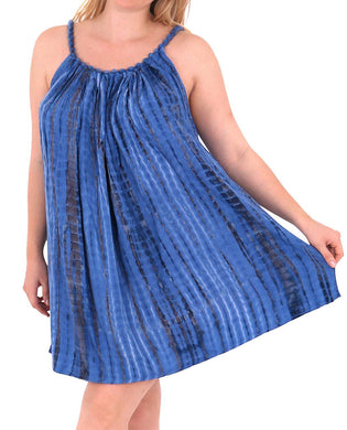 Women's Designer Sundress Beachwear Evening Plus Size Casual Cover ups TOP Blue