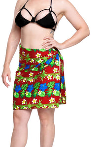 LA LEELA Mini Sarong Women Beachwear Bikini Cover up Swimwear Wrap Printed8