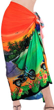 Load image into Gallery viewer, la-leela-women-beachwear-sarong-bikini-coverup-wrap-dress-digital-plus-size