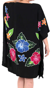 Women's Beachwear Evening Plus Size Blouse Loose Casual Cover ups Dresses Black