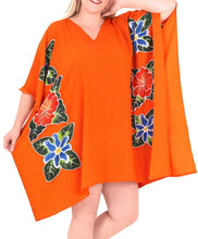 Load image into Gallery viewer, Women's Kimono Designer Sundress Beachwear Plus Evening Casual Cover ups Orange