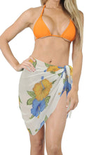 Load image into Gallery viewer, LA LEELA Women Beachwear Mini Sarong Bikini Cover up Wrap Dress Printed