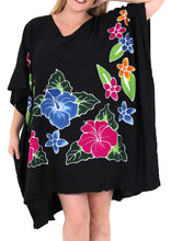 Load image into Gallery viewer, Women's Beachwear Evening Plus Size Blouse Loose Casual Cover ups Dresses Black